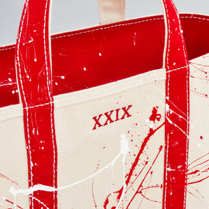 Paint Splatter Tote - London Red - Numbered