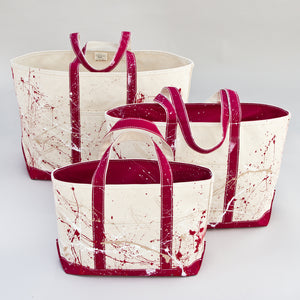 Paint Splatter Tote - Rioja Wine - Sizes
