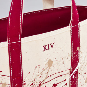 Paint Splatter Tote - Rioja Wine - Numbered