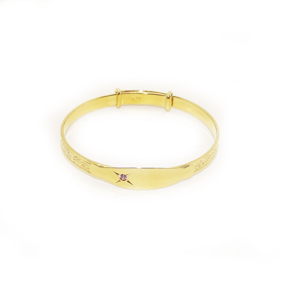 Baby Bangle Sterling Silver Gold Plated Bracelet