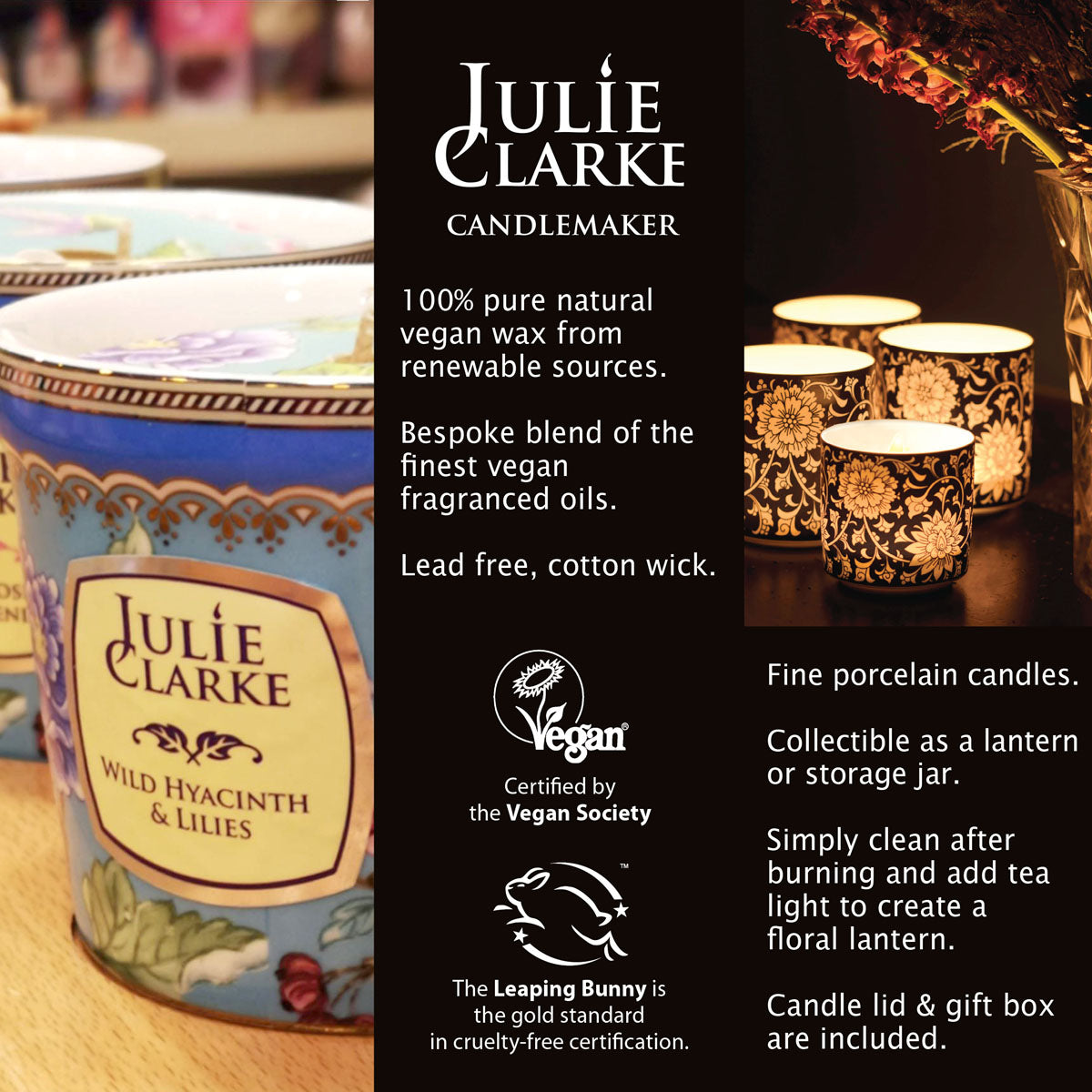 Water Orchid & Lime Blossom Botanic Candle by Julie Clarke