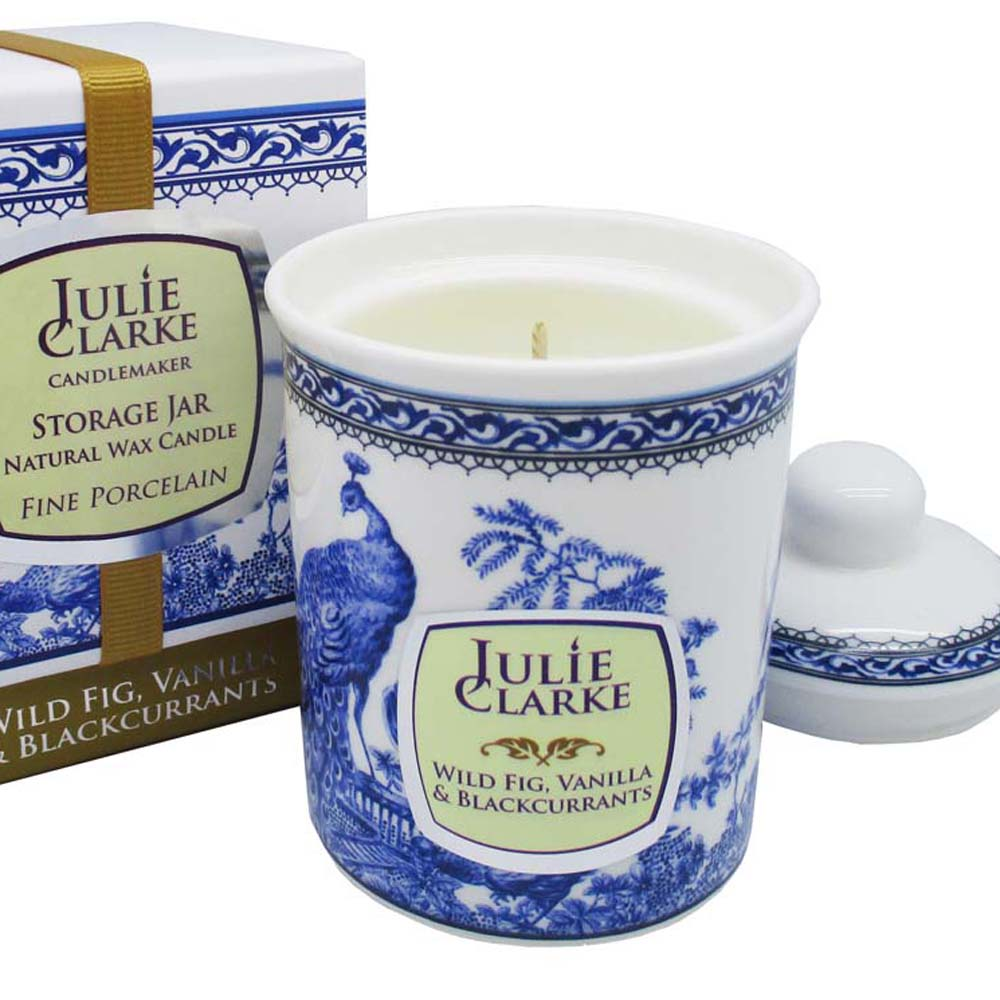 Wild Fig, Blackcurrant & Vanilla Jar Candle by Julie Clarke