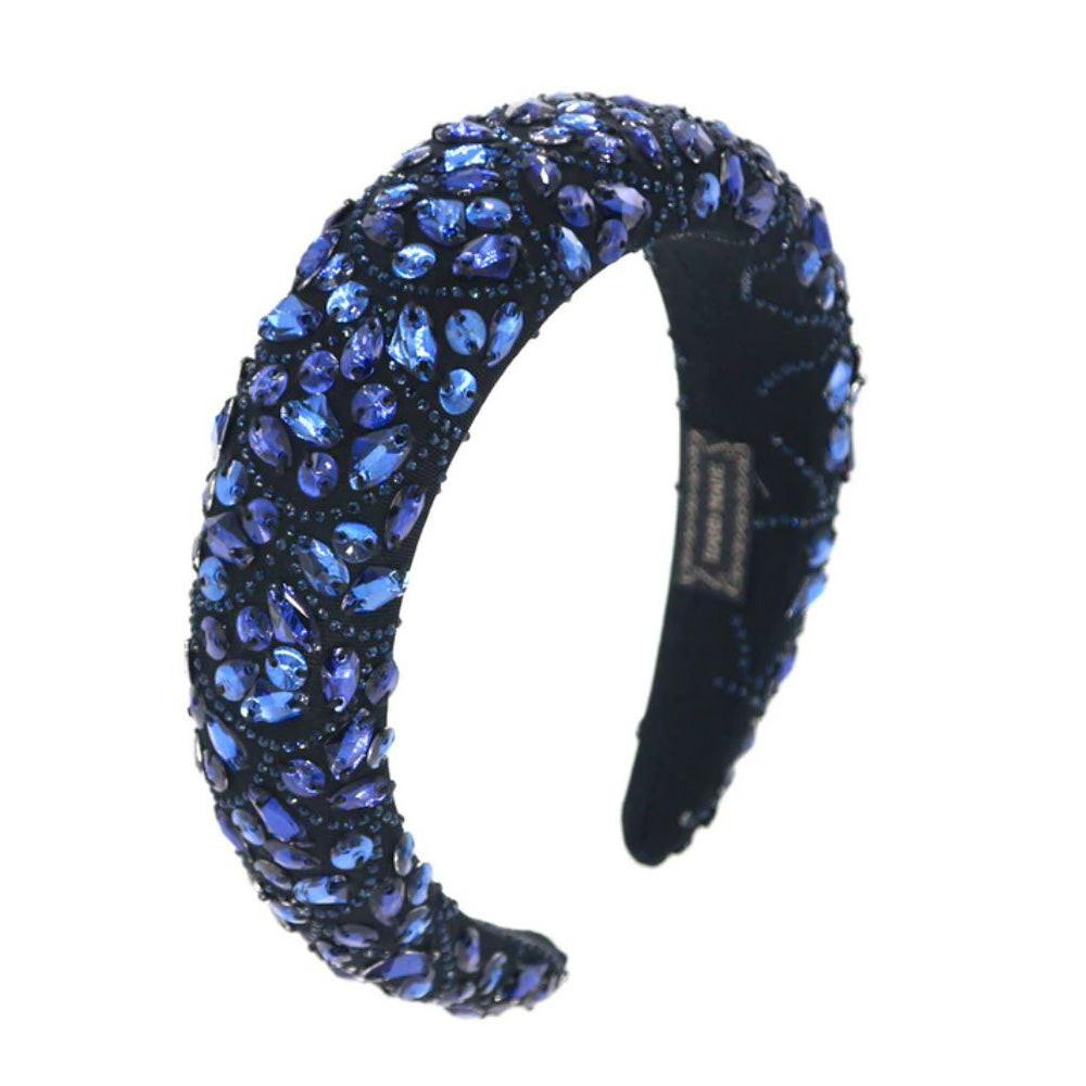 Royal Blue Gems Sequin Fabric Headband
