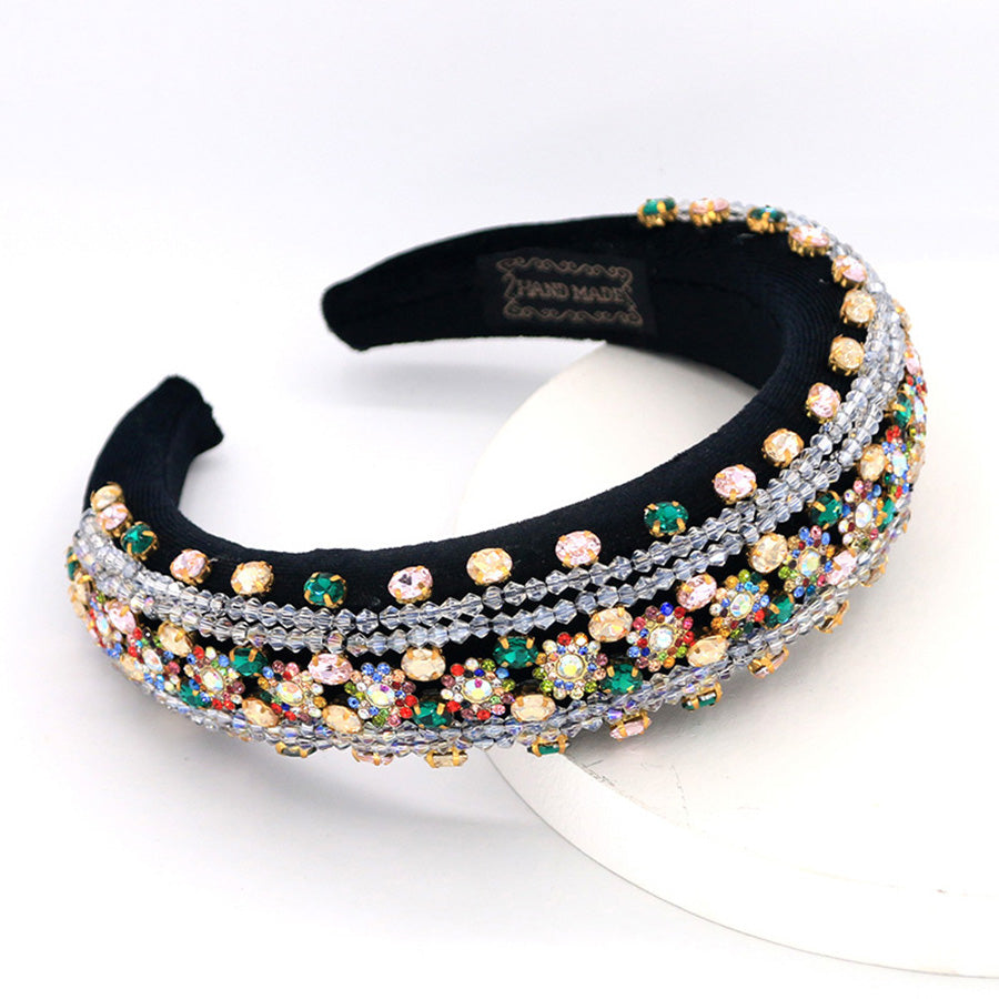 Miranda Multicolour Gems Beaded Fabric Headband