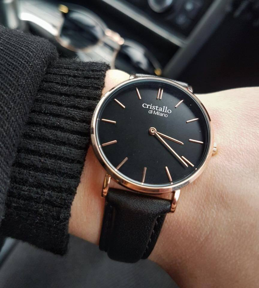 Little Noir Bohemian Black On Black Rose Gold Watch