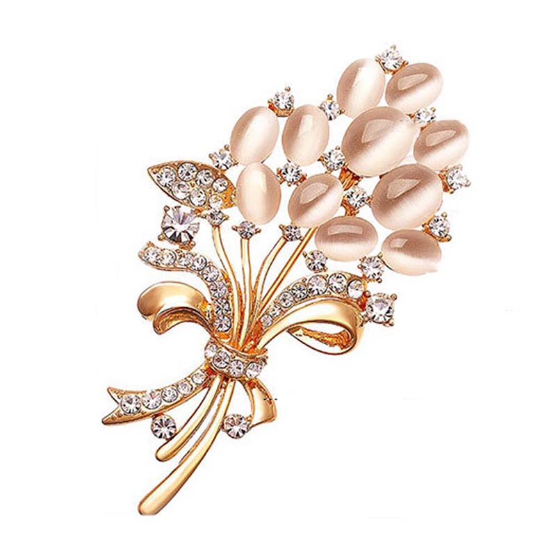 Floral bouquet Rose gold Brooch
