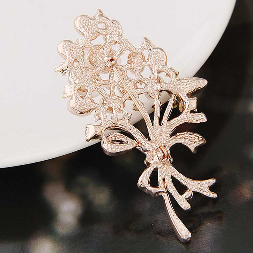 Floral Rose gold Brooch