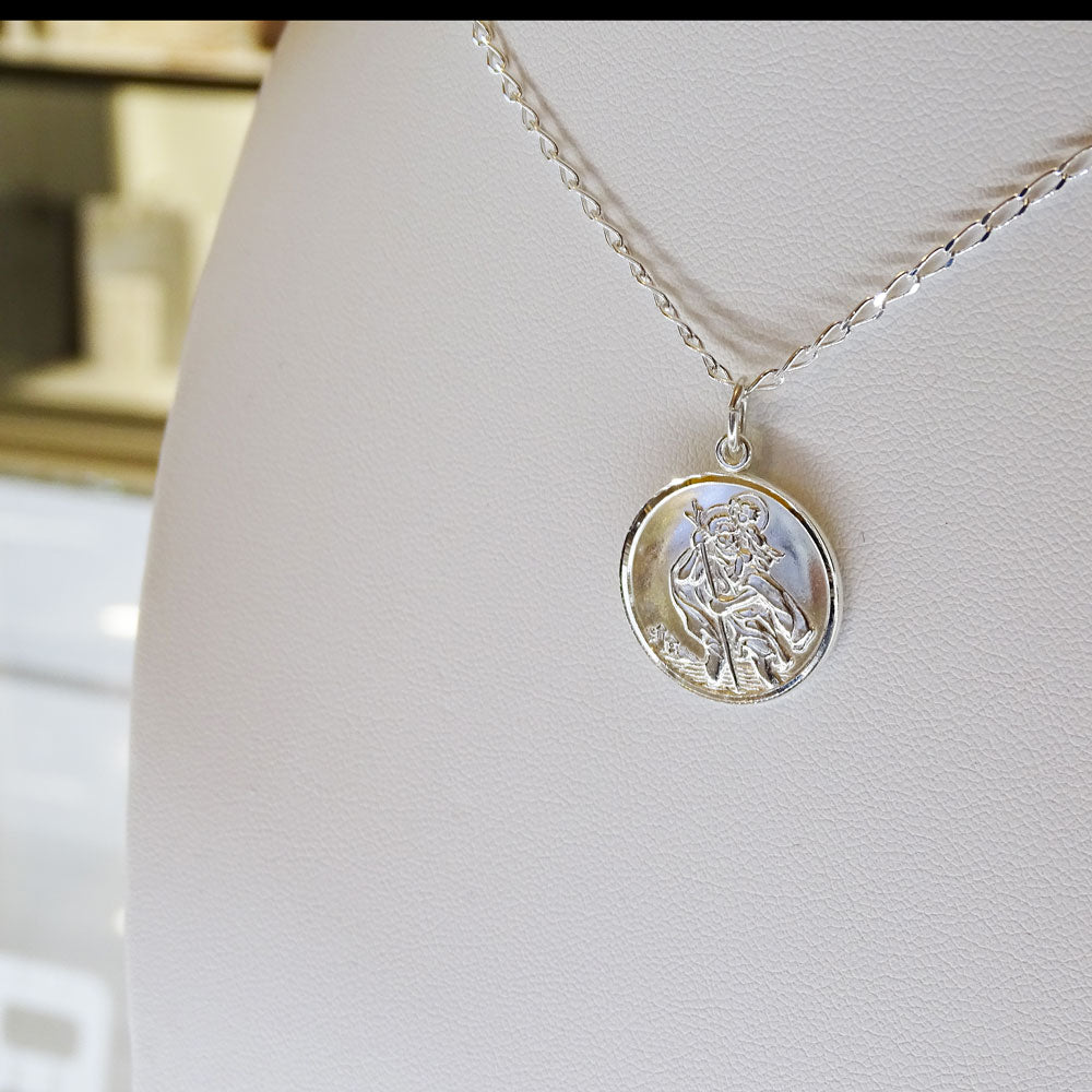 Saint Christopher Sterling Silver Medal