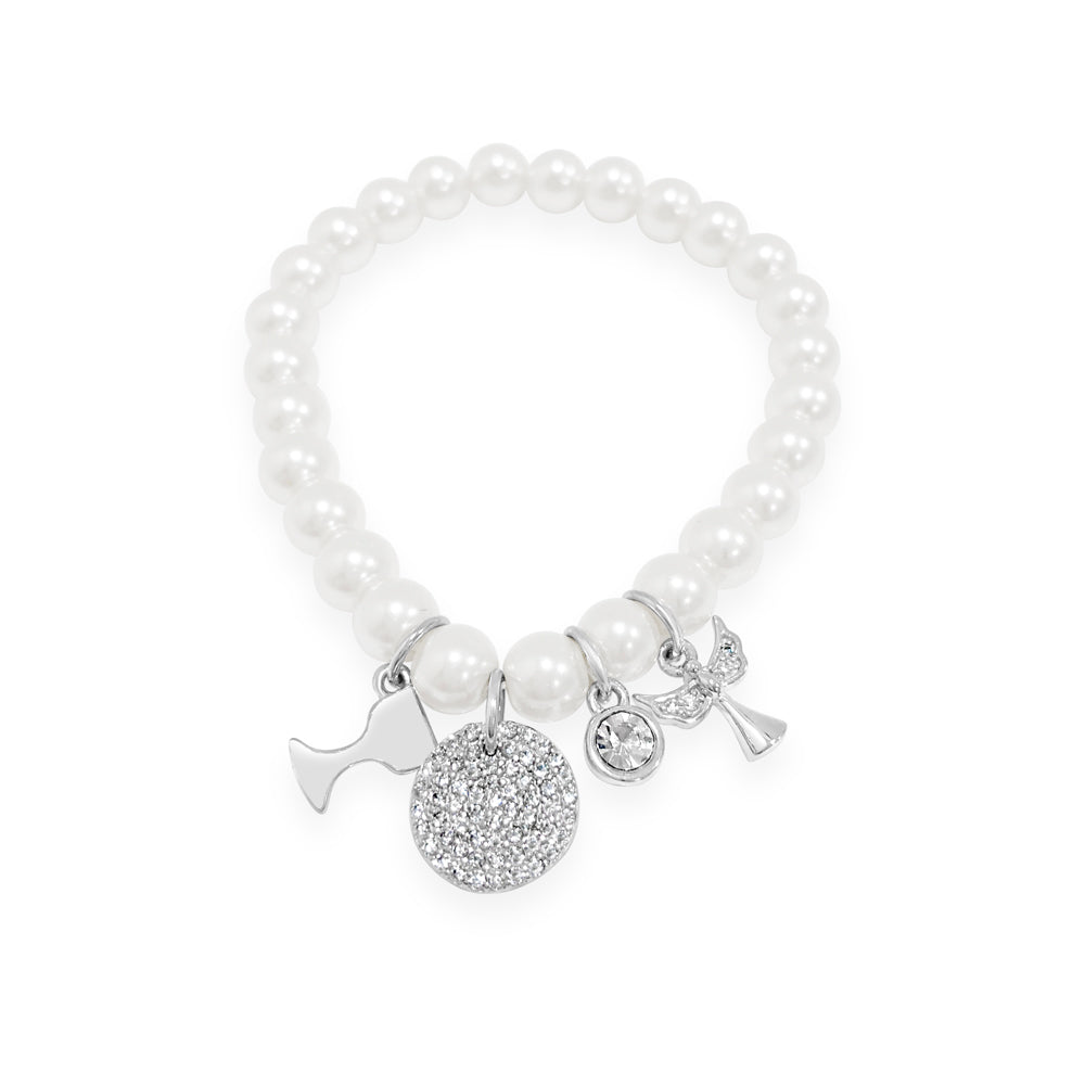 Annie Pearls Children Sterling Silver Communion Bracelet - Eva Victoria