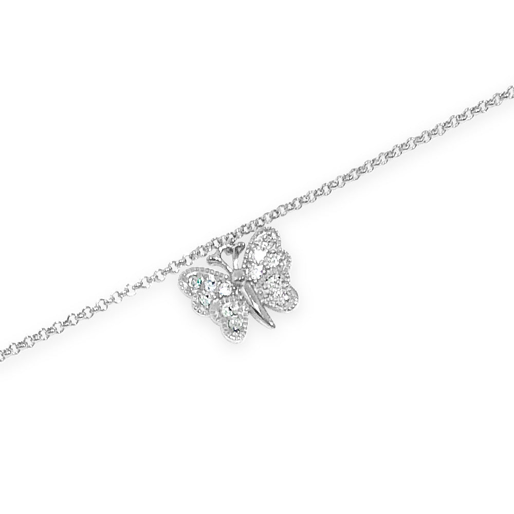 Christina Butterfly Children Sterling Silver Bracelet
