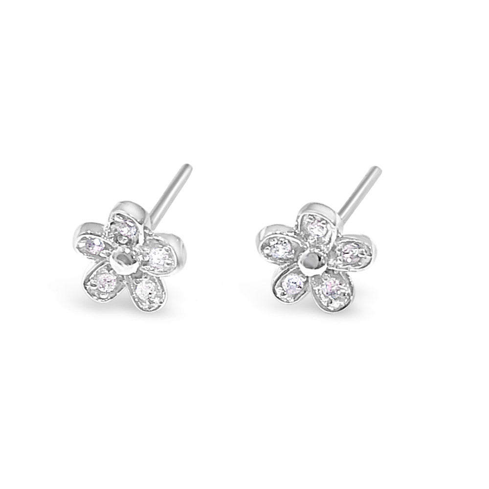 Daisy Children Sterling Silver Flower Earrings