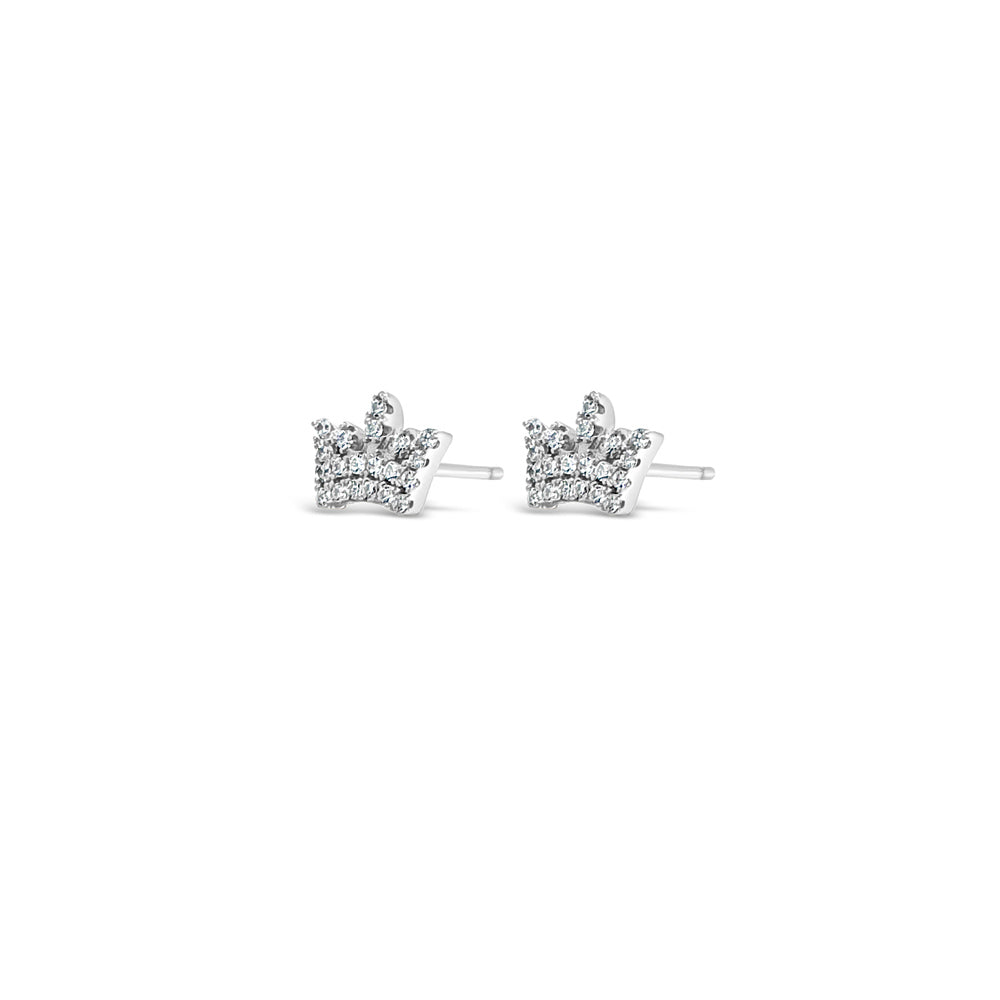 Princess Crown Children Sterling Silver Tiara Earrings