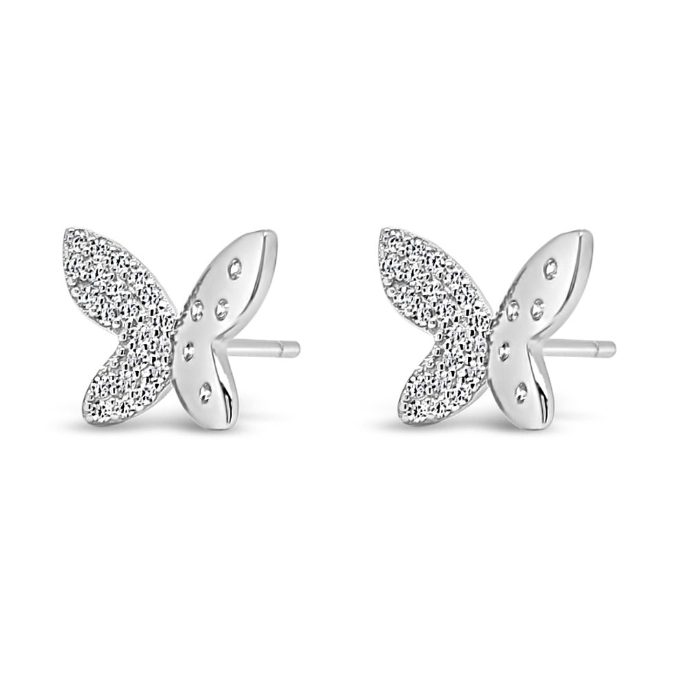 Meadow Butterfly Children Sterling Silver Earrings