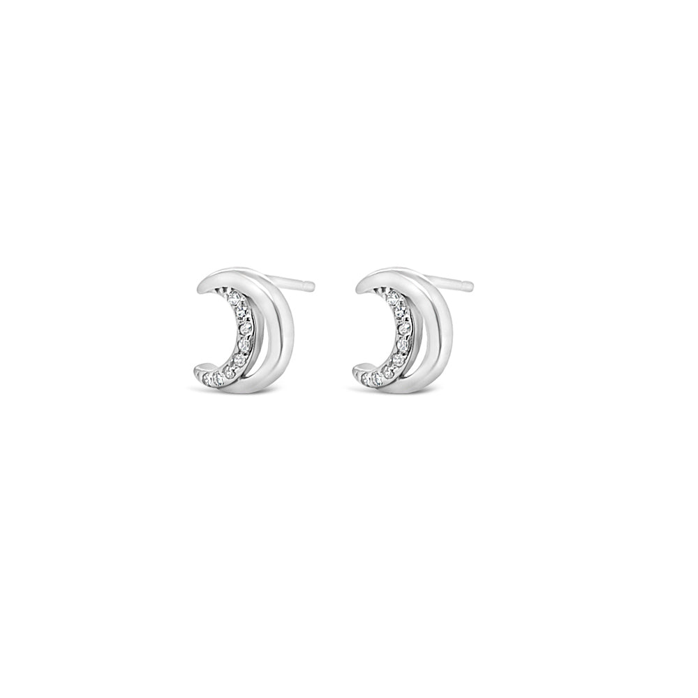 Dream Moon Children Sterling Silver Earrings