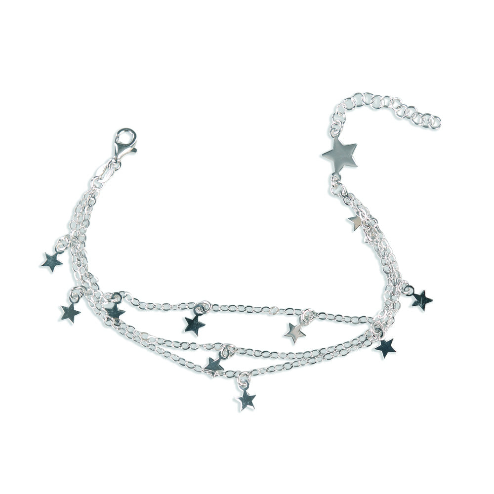 Starry Night multilayered Sterling Silver Bracelet