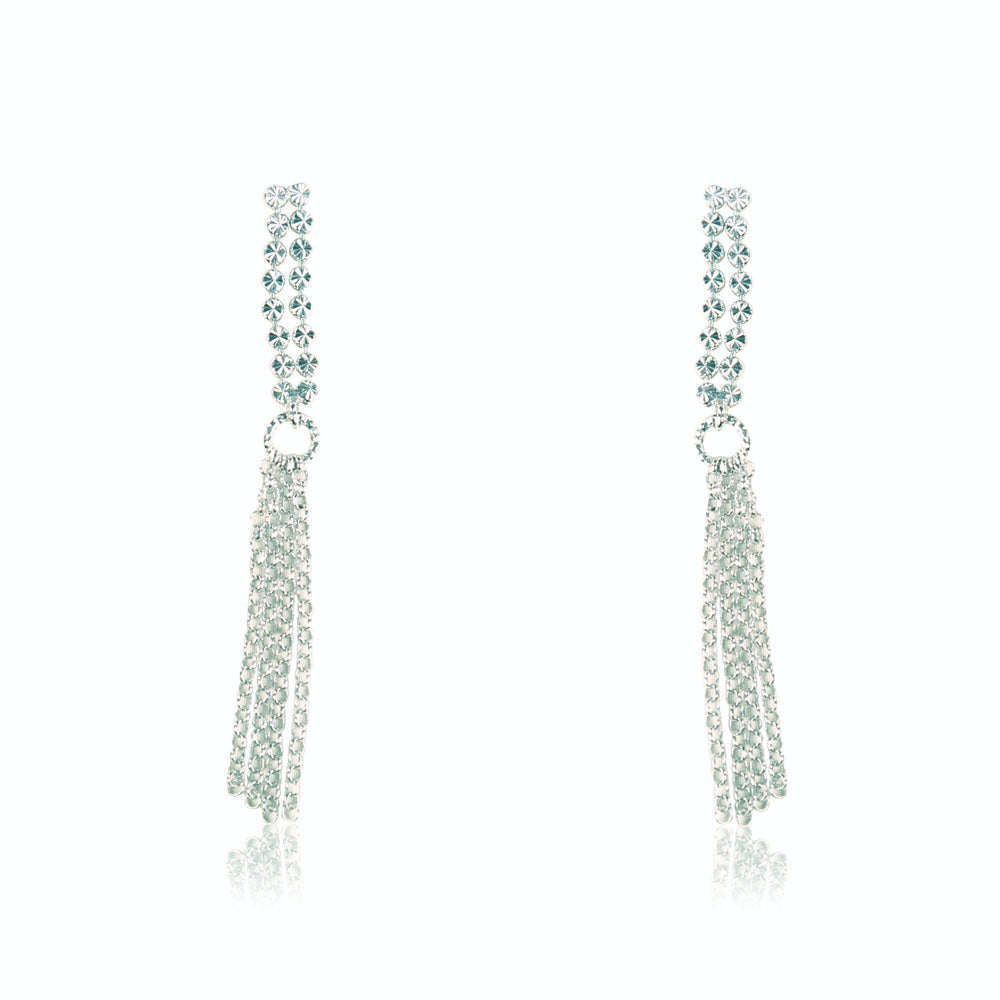 Sarah Multilayered Diamond Cut Sterling Silver Earrings