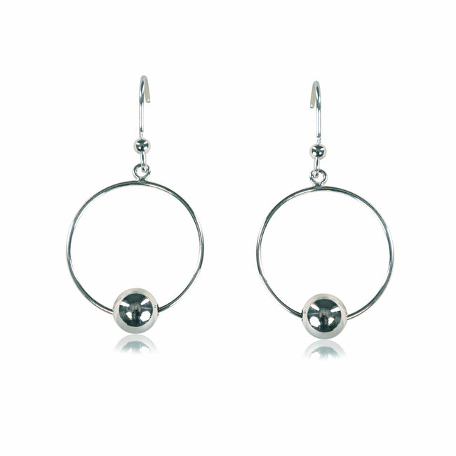 Interlocking Circles Sterling Silver Earrings