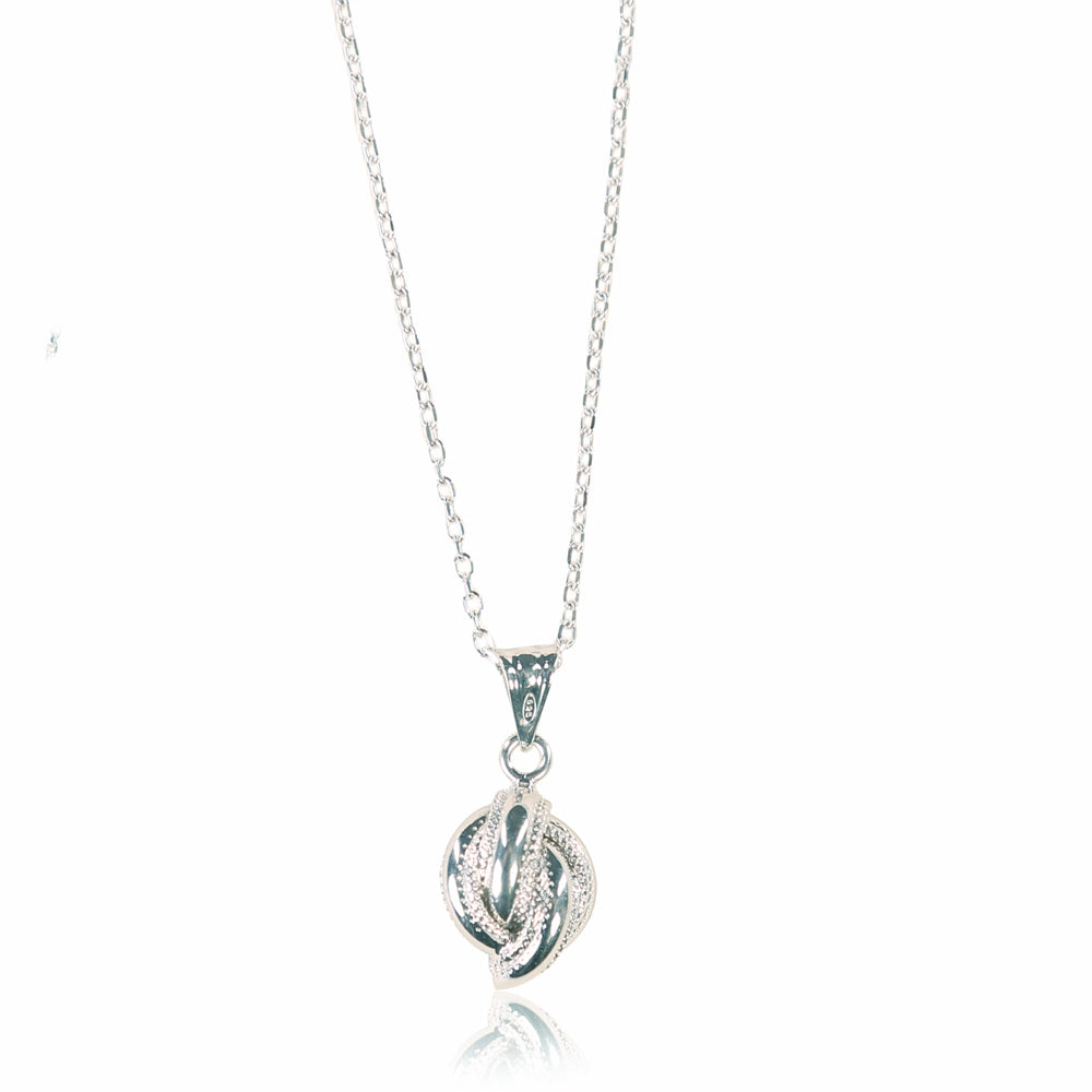 Royal Knot Sterling Silver Pendant
