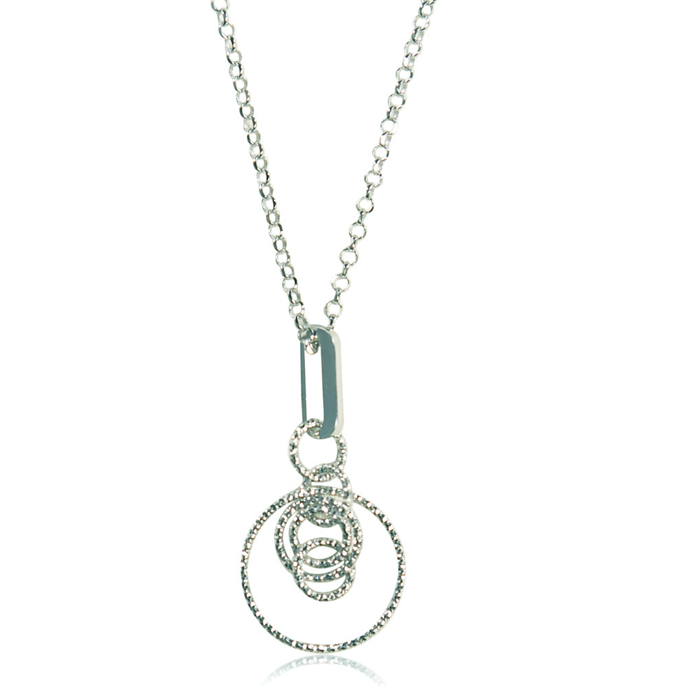 dd4fc1e432889 Mireille Sterling Silver Circle Pinned Pendant