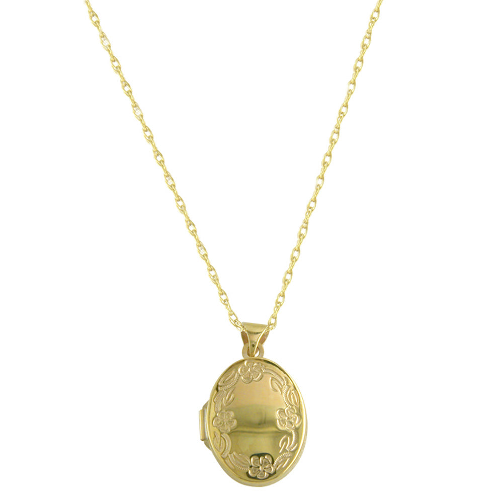 9ct Yellow Gold Oval Photo Locket