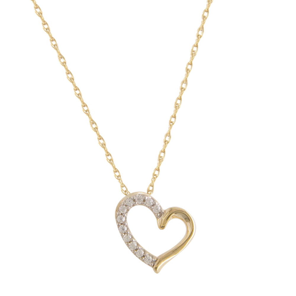 9ct Sacred Diamante Heart Necklace