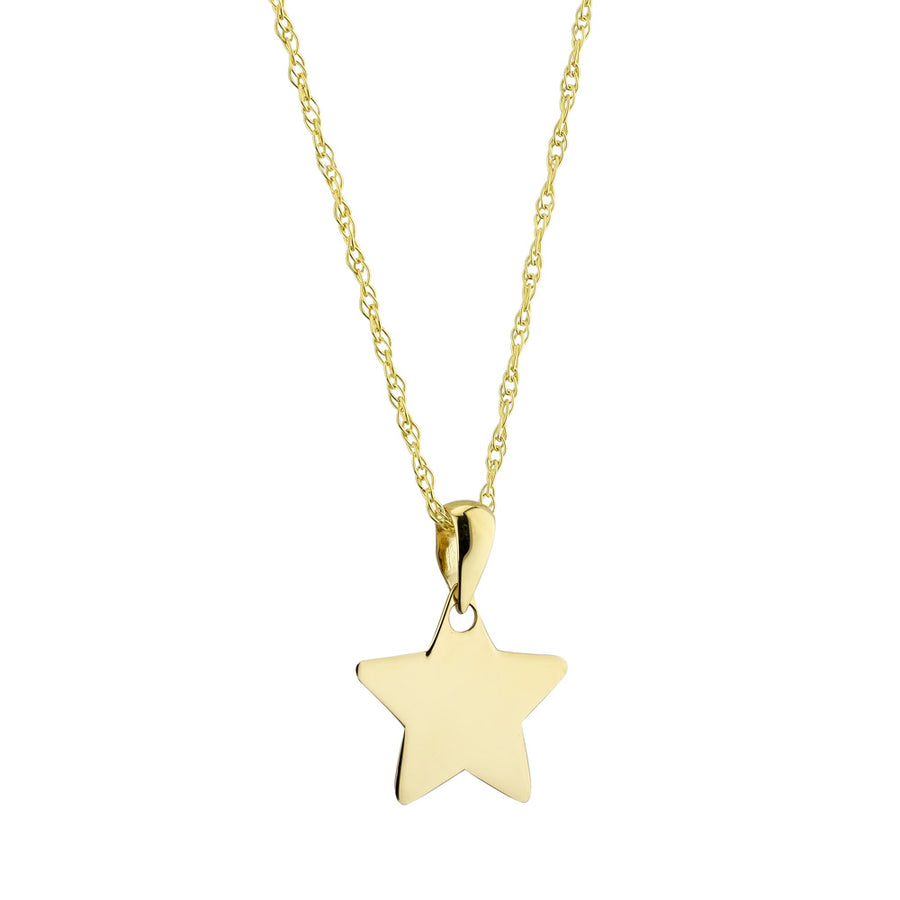 9ct Yellow Gold Star Pendant