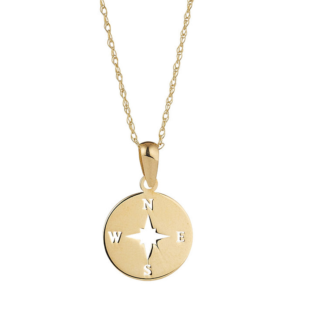 9ct Yellow Gold Compass Pendant