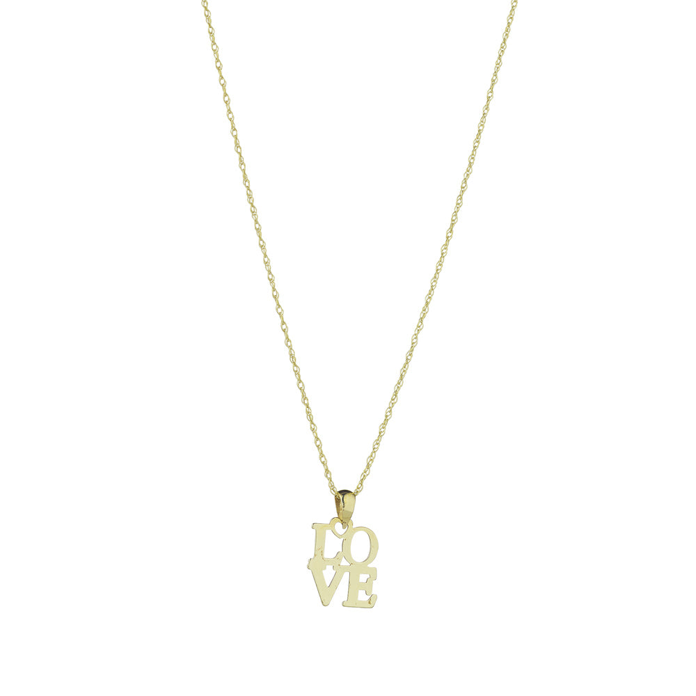 "9ct Yellow Gold ""Love"" Letters Pendant"