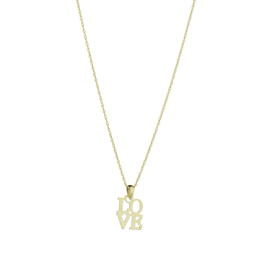 "9ct Yellow Gold ""Love"" Pendant"