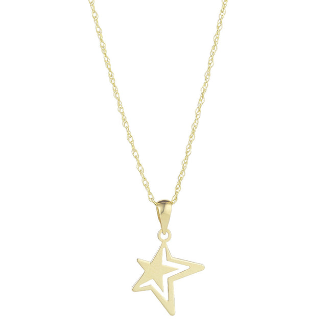 9ct Yellow Gold Shooting Star Necklace