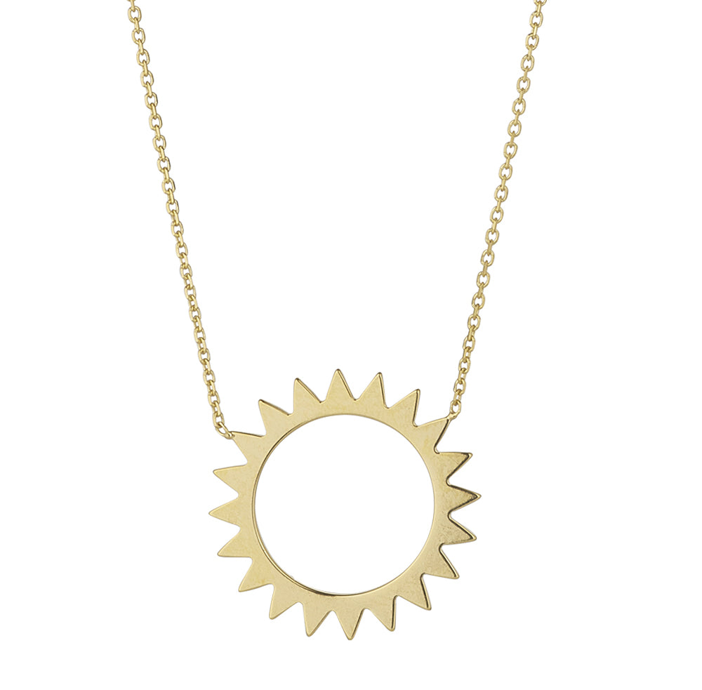 9ct Yellow Gold Open Sun Pendant