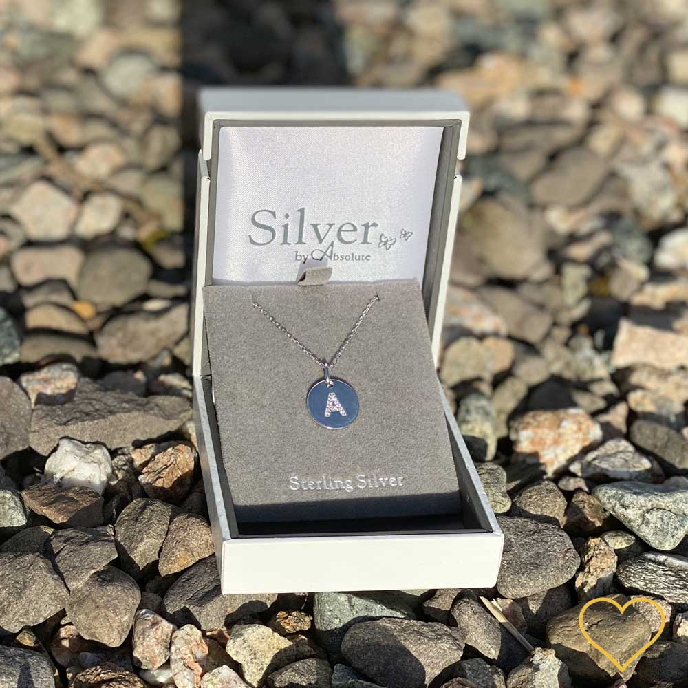 A - Initial Letter Sterling Silver Necklace - Eva Victoria