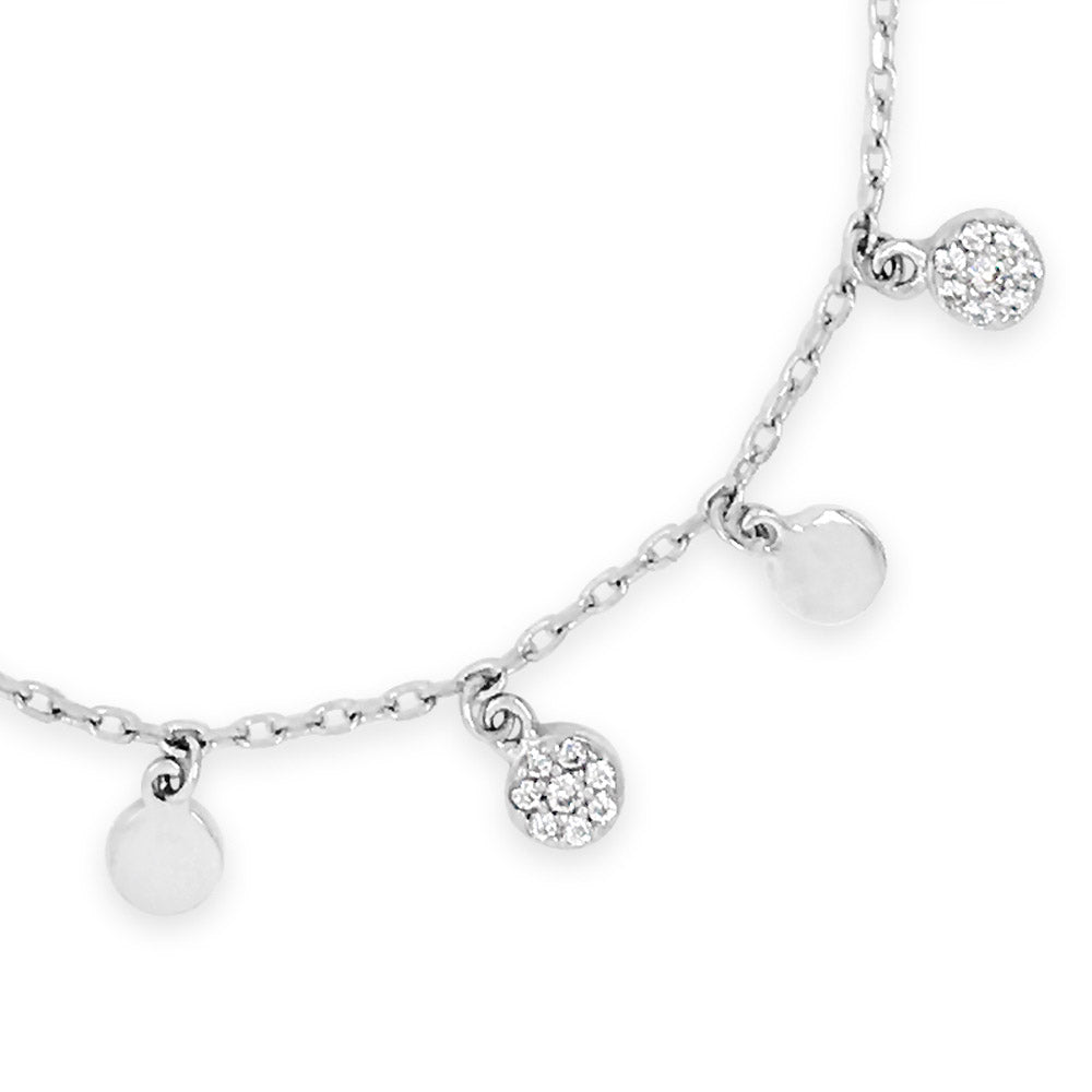 Trish Crystal Sterling Silver Charms Bracelet