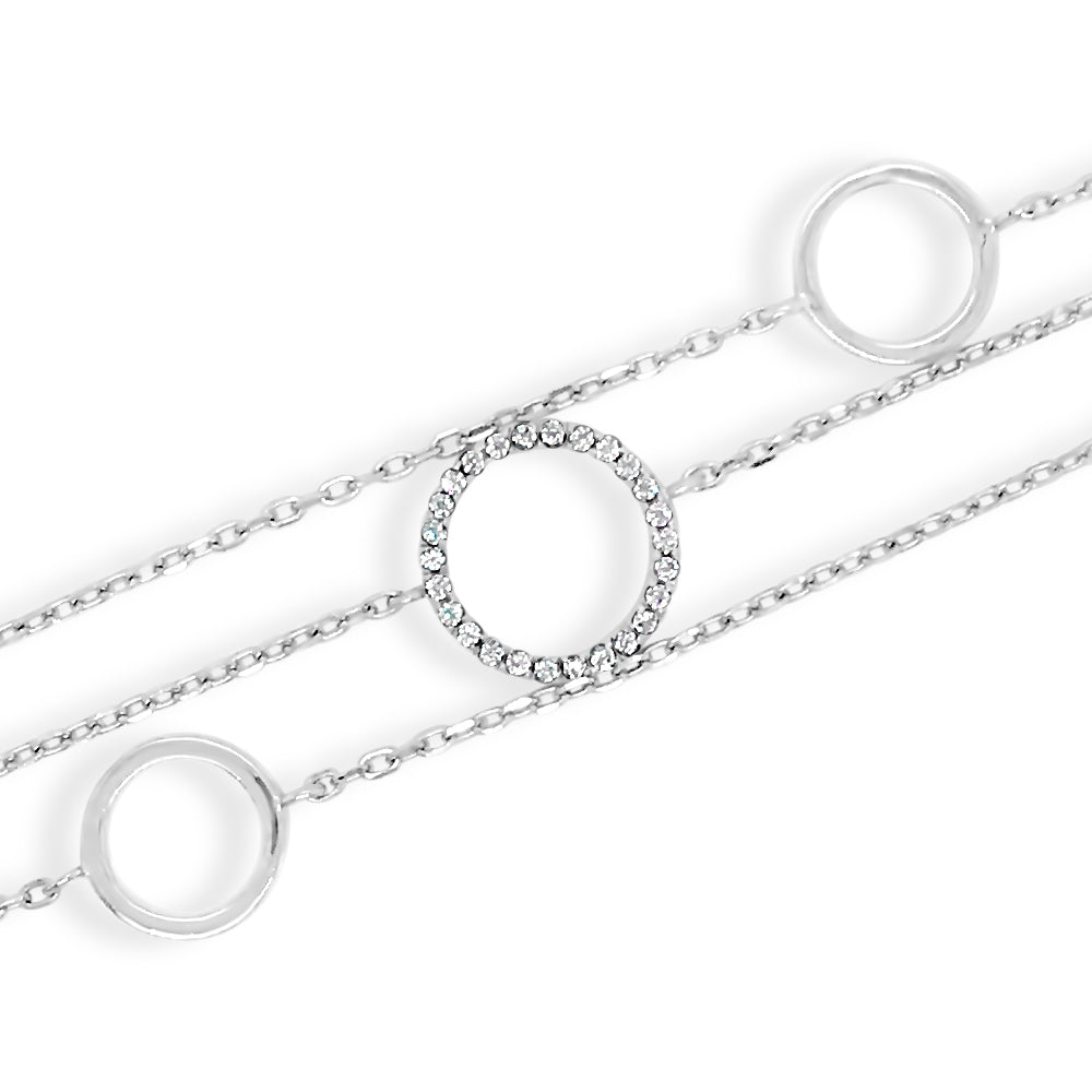 Tiffany Crystal Circles Sterling Silver Bracelet