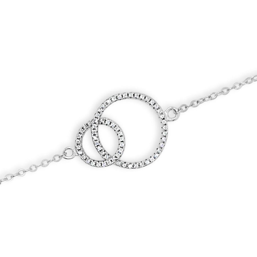 Inter-circle Delicate Sterling Silver Bracelet