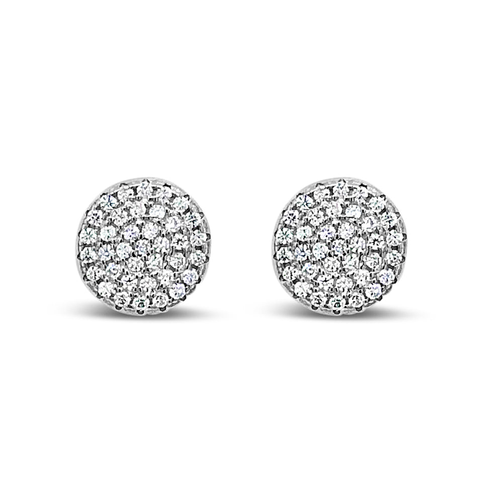 Serenity Diamante Sterling Silver Stud Earrings