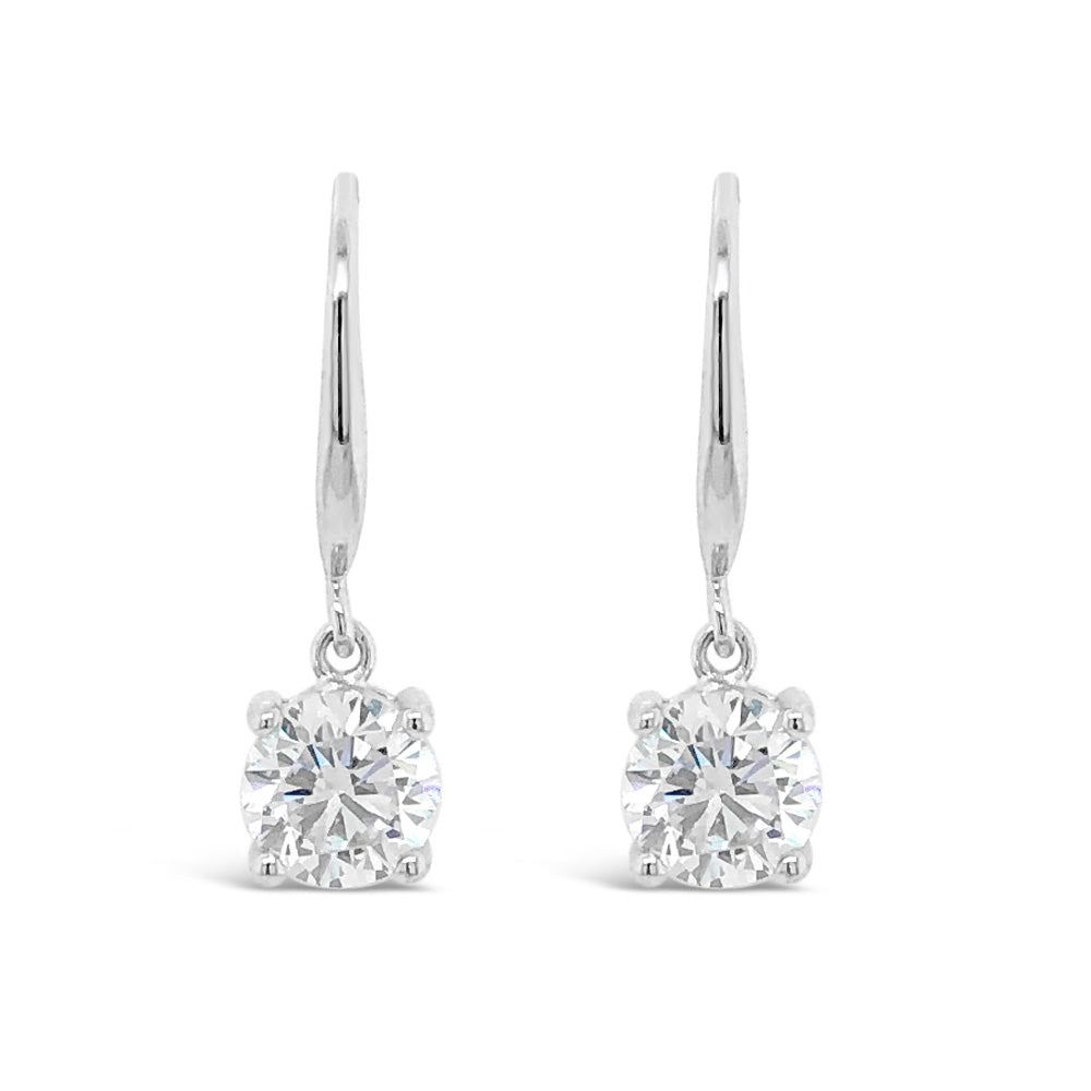 Andrea Sterling Silver Delicate Drop Earrings - Eva Victoria