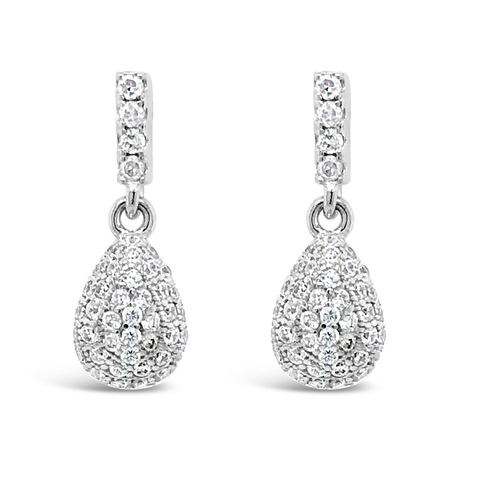Diana Crystal Sterling Silver Stud Statement Earrings