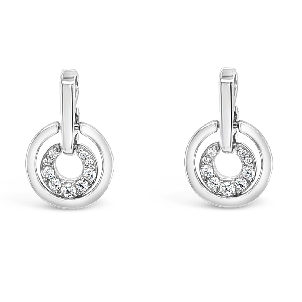 Valery Diamante Sterling Silver Stud Earrings