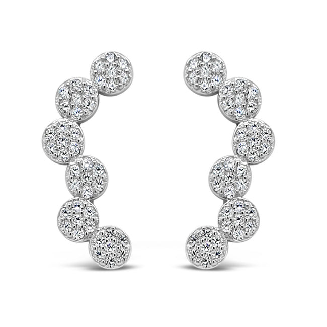 Daria Diamante Sterling Silver Crawler Stud Earrings