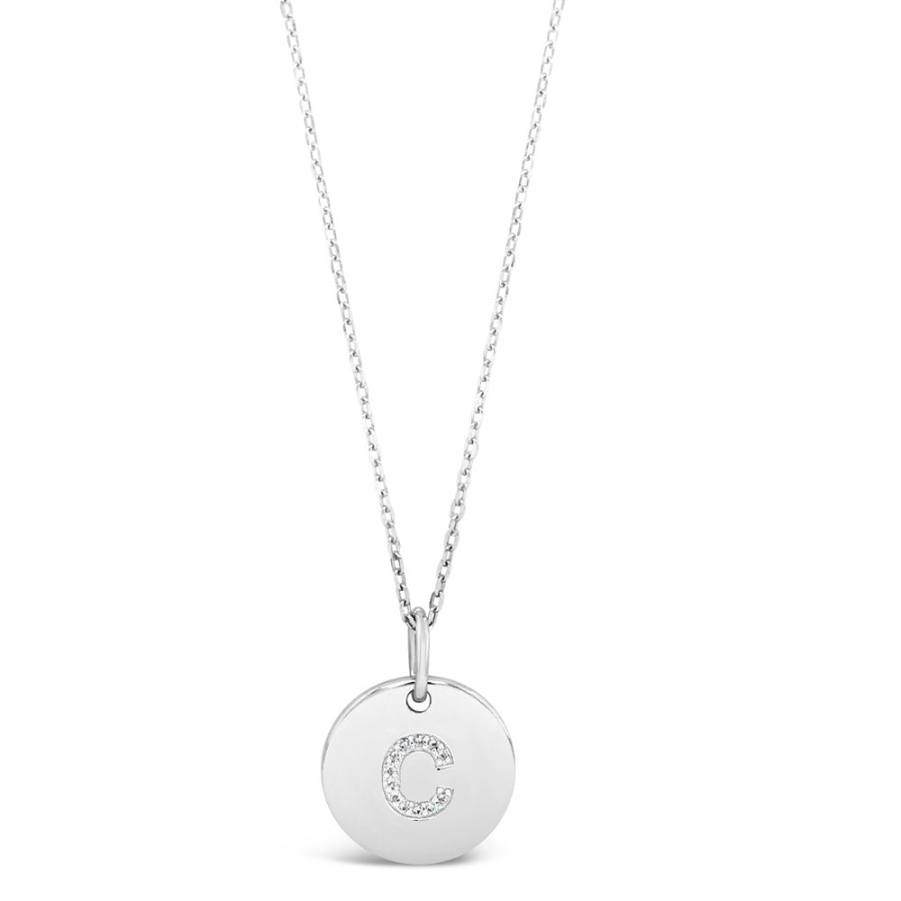 C - Initial Letter Sterling Silver Necklace - Eva Victoria