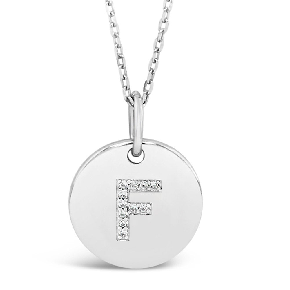 F - Initial Letter Sterling Silver Necklace