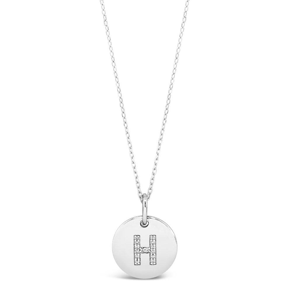 H - Initial Letter Sterling Silver Necklace