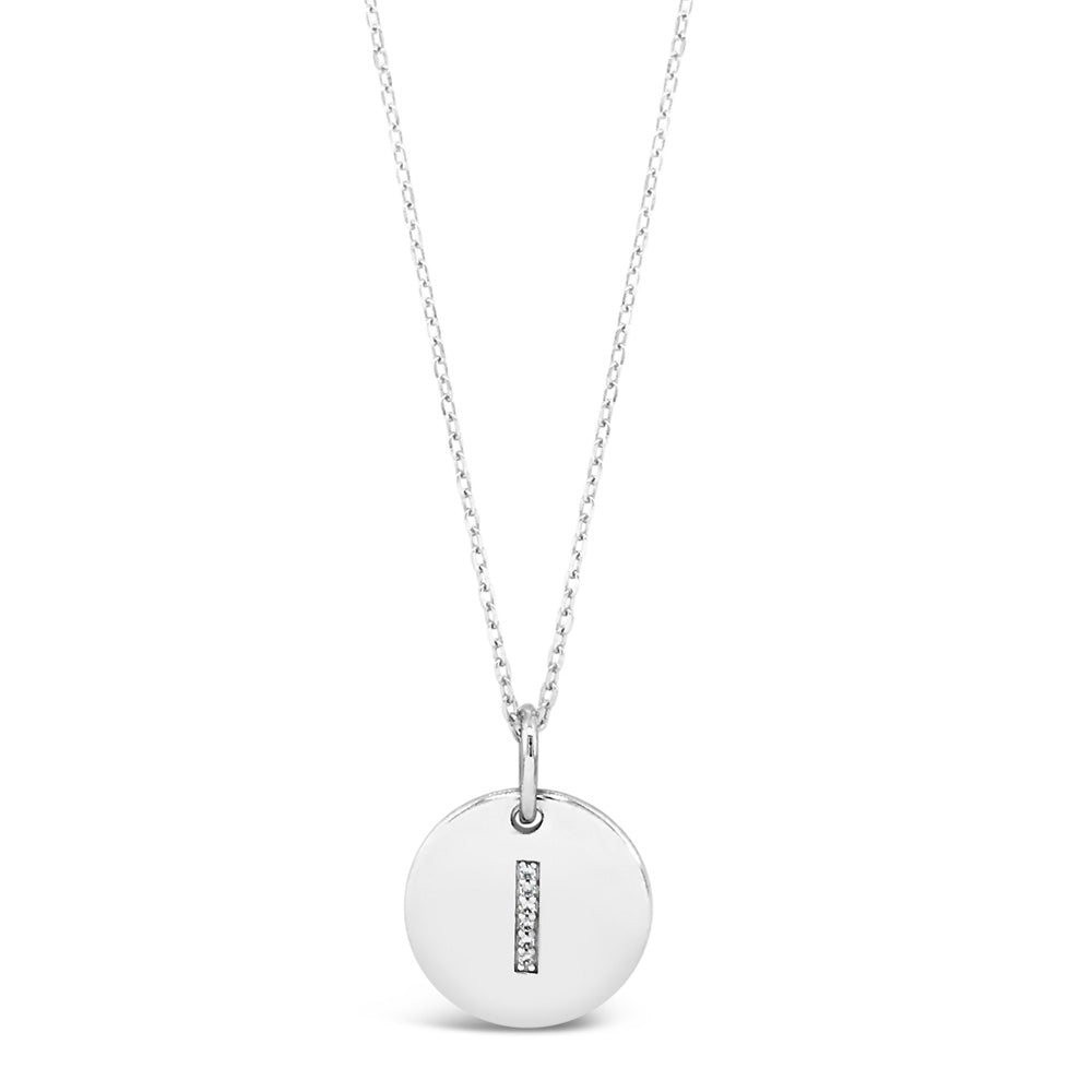 I (i) - Initial Letter Sterling Silver Necklace
