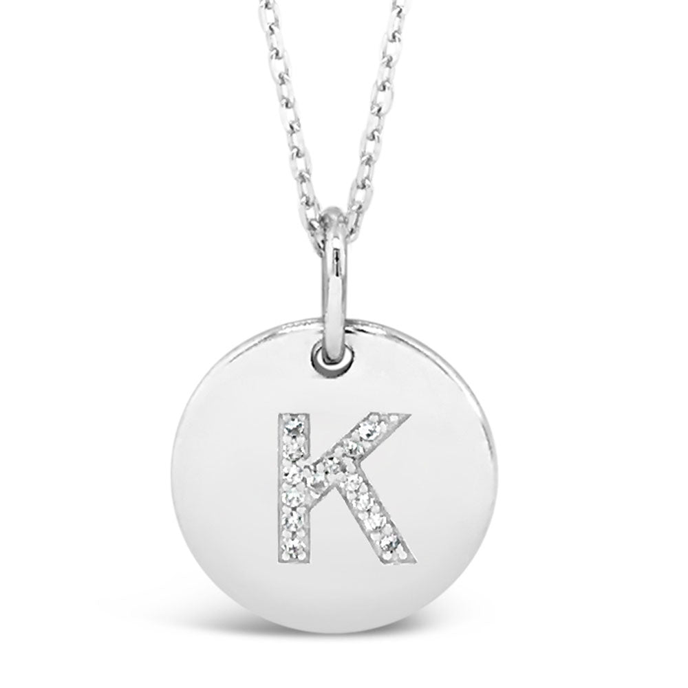 K - Initial Letter Sterling Silver Necklace