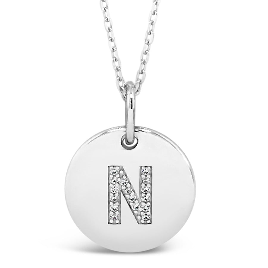 N - Initial Letter Sterling Silver Necklace