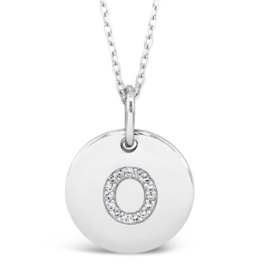 O - Initial Letter Sterling Silver Necklace
