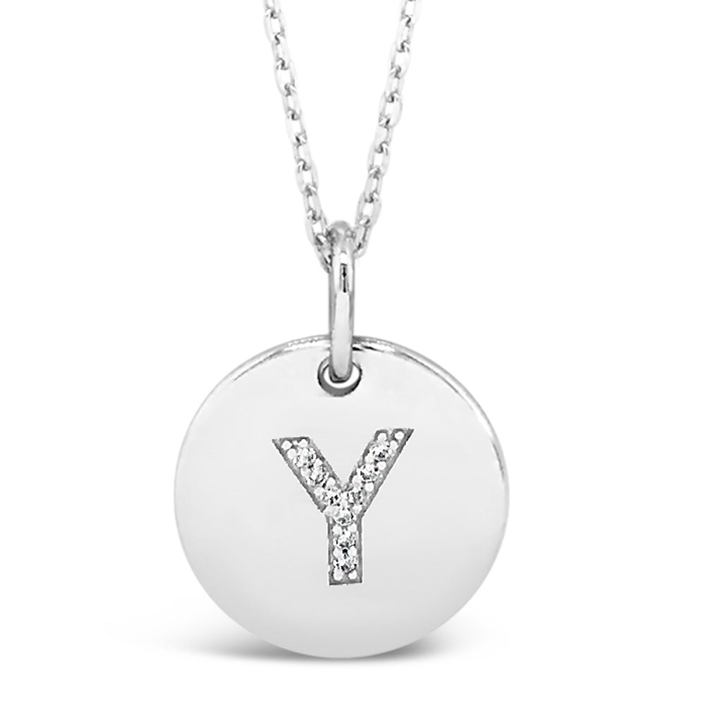 Y - Initial Letter Sterling Silver Necklace
