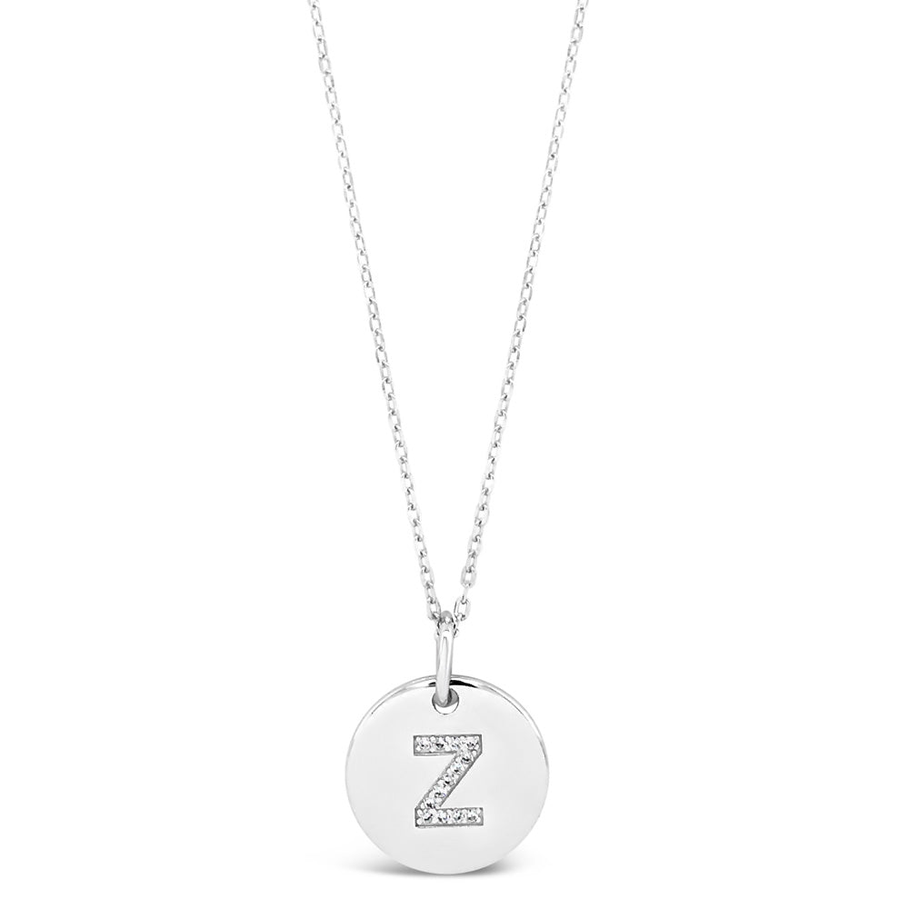 Z - Initial Letter Sterling Silver Necklace