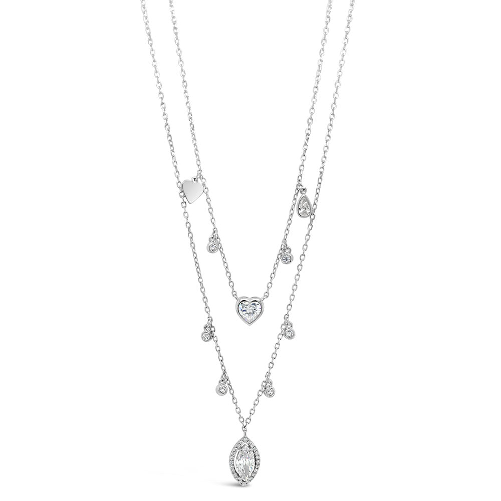 Sonia Diamante Sterling Silver Charms Necklace